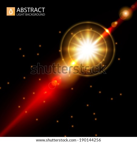 Abstract gold flash background. Vector illustration - stock vector