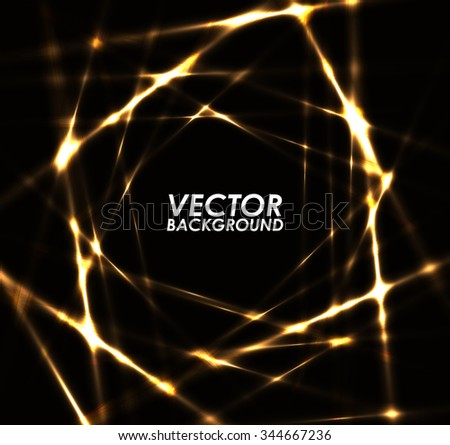 Abstract gold lights pattern technology background. - stock vector