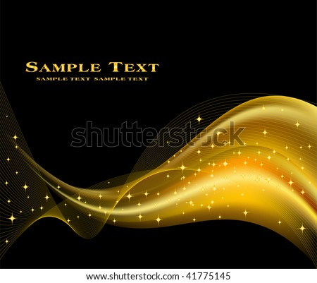 Abstract golden background - stock vector
