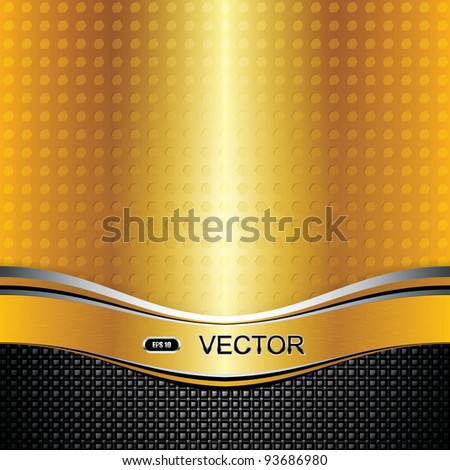 Abstract golden background - vector illustration - stock vector