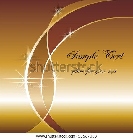 Abstract golden background with space for your text - stock vector