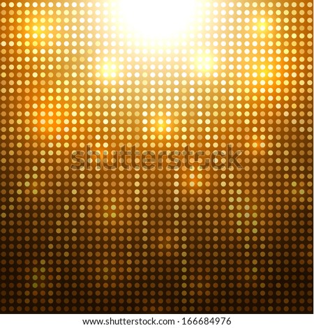 Abstract golden dotted background - eps10 - stock vector