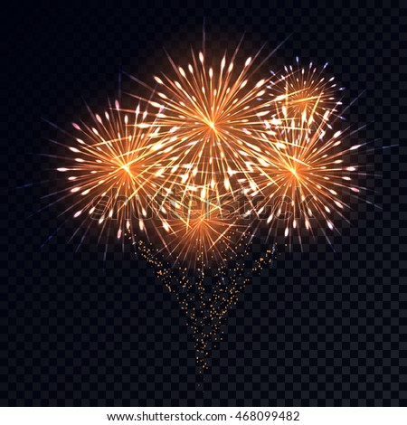 Abstract golden fireworks explosion on transparent stock vector hd abstract golden fireworks explosion on transparent background new year celebration fireworks holiday fireworks on voltagebd Image collections
