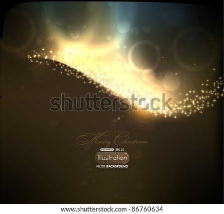 Abstract golden lines on black background. Vector eps10 illustration - stock vector