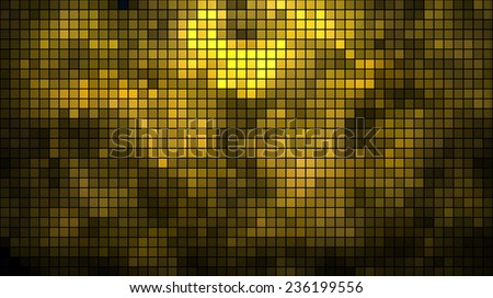 Abstract golden mosaic horizontal vector background. - stock vector