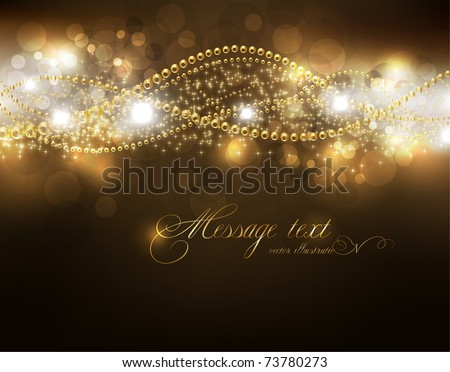 Abstract Golden Vector Background. eps10 - stock vector