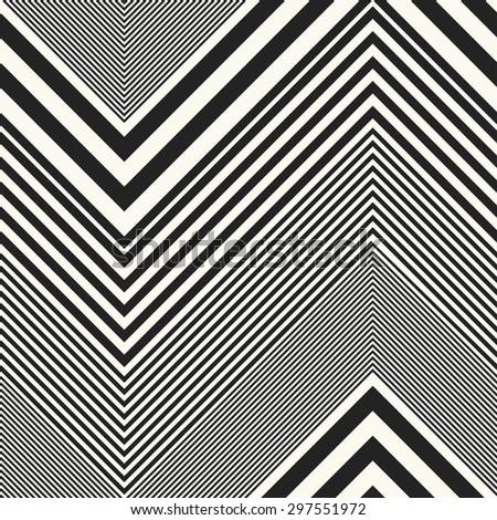 Abstract gradually striped chevron. Seamless pattern. - stock vector