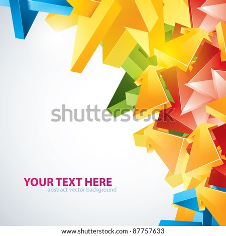 Abstract graffiti background. - stock vector