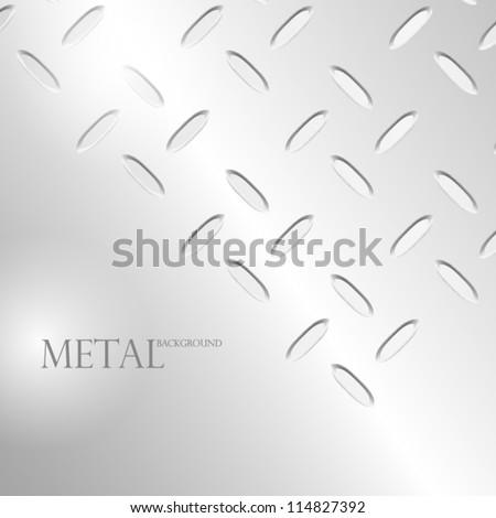 Abstract grain-oriented metal background. EPS10 Vector. - stock vector