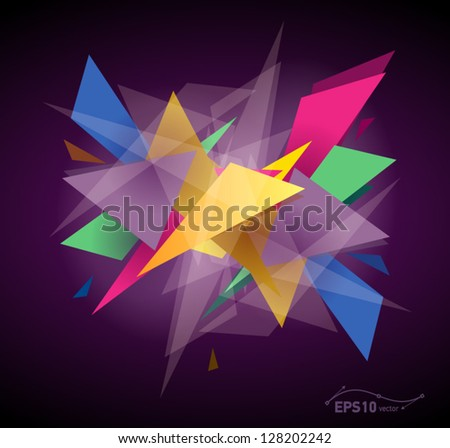abstract graphic background / transparent - stock vector