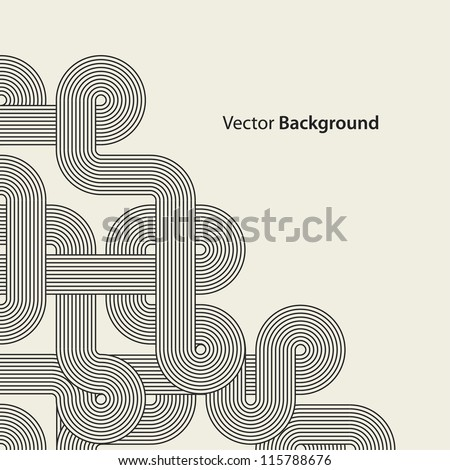 Abstract graphic corner shape. Black intricacy. Vector illustration - stock vector