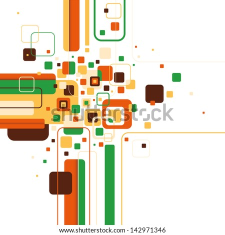 Abstract graphic with rounded shapes. Vector illustration. - stock vector