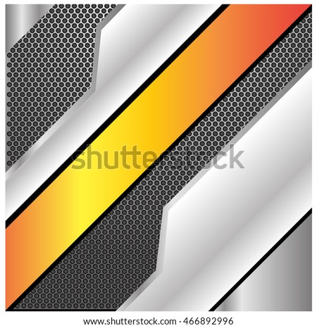 Abstract gray and gold background modern design vector illustration.