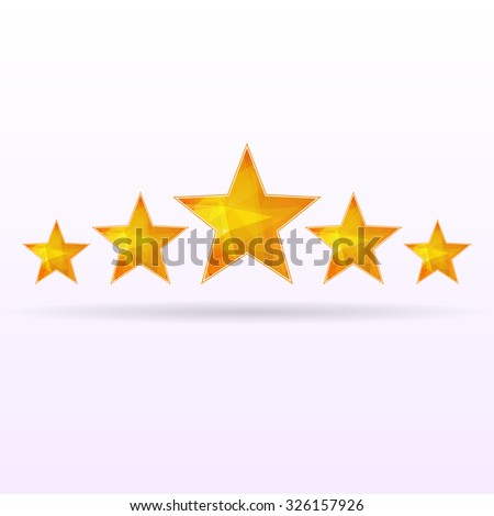 Abstract gray background with five orange stars. eps10 - stock vector