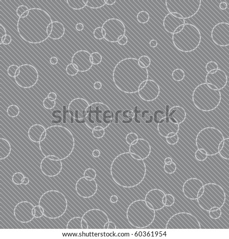 abstract gray circle background (seamless pattern) - stock vector