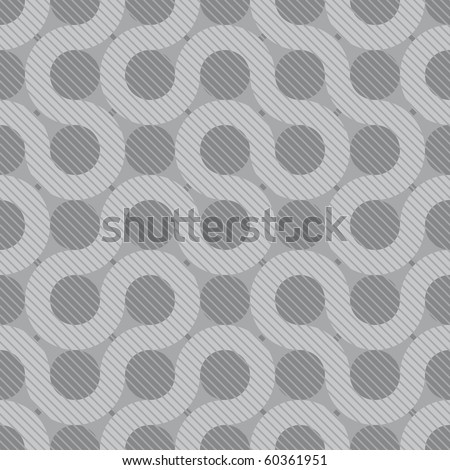 abstract gray flow background (seamless pattern) - stock vector