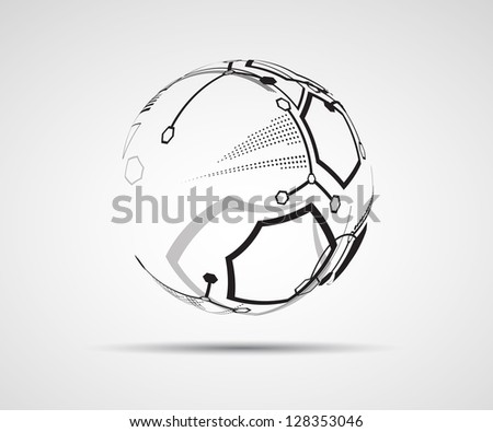 abstract gray futuristic computer technology business banner - stock vector