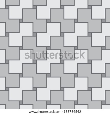 Abstract gray monochrome simple square seamless vector texture - stock vector