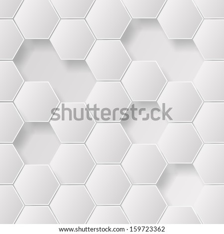 Abstract grayscale hexagon pattern design background wallpaper  Eps 10 vector illustration  - stock vector
