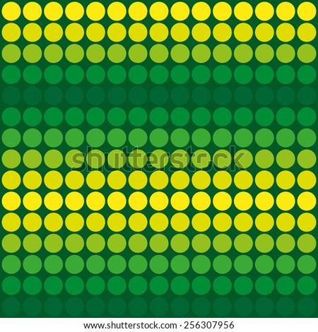 Abstract green and yellow dotted vector background - stock vector
