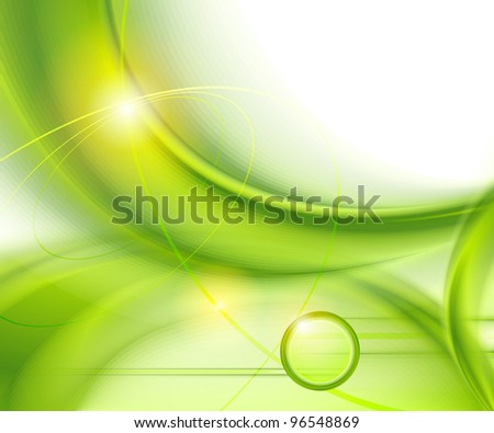 Abstract green background - stock vector