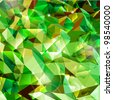 Abstract green background. Combination of triangle. Vector - stock
