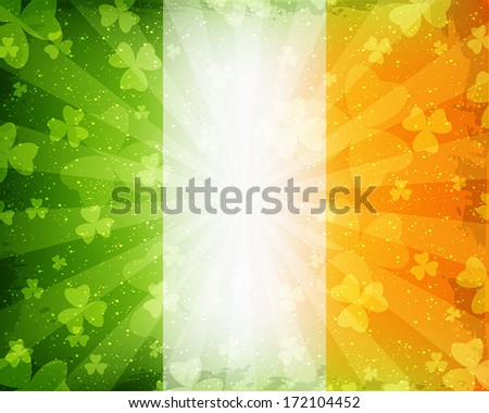 Abstract green background for St. Patrick's Day - stock vector