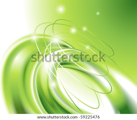 Abstract green background (no mesh) - stock vector