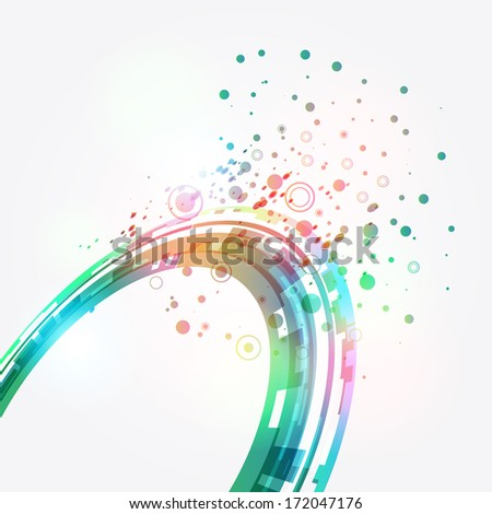 Abstract green background. Vector - stock vector