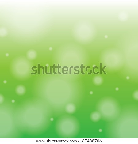 Abstract green background with blur. EPS10 vector illustration