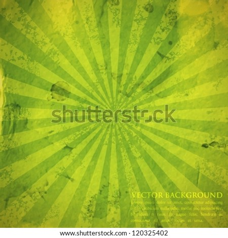 abstract green background with grunge cardboard texture - stock vector