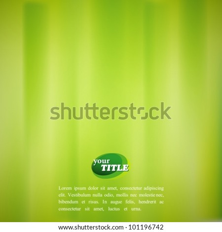 abstract green background with watercolor effect - stock vector