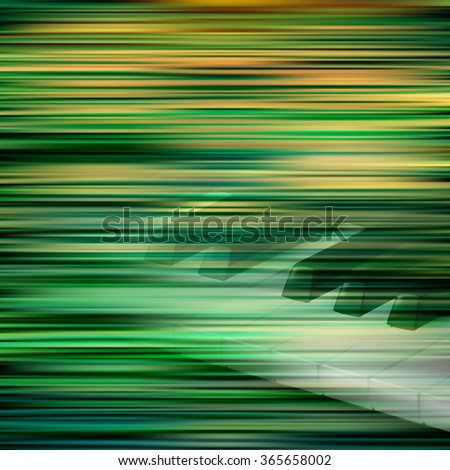 abstract green blur background with piano keys - stock vector