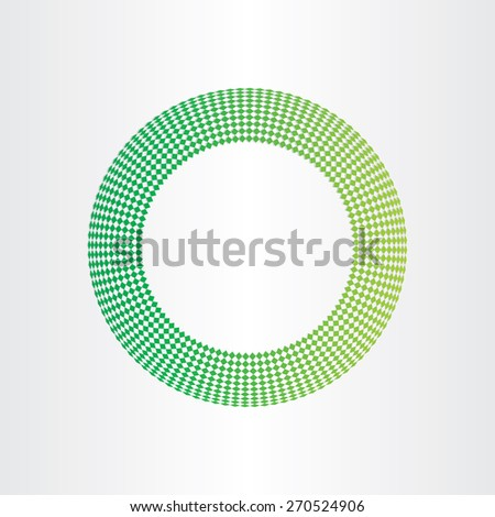 abstract green circle background with squares - stock vector