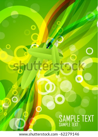 Abstract green composition. Eps10 vector background