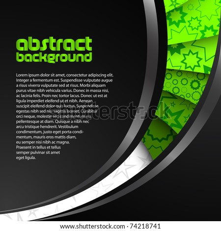 abstract green dark background - stock vector