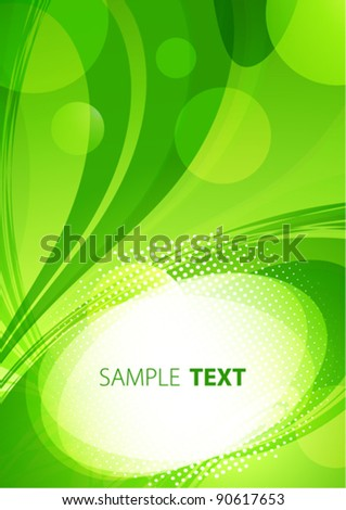 Abstract green eco background. Vector