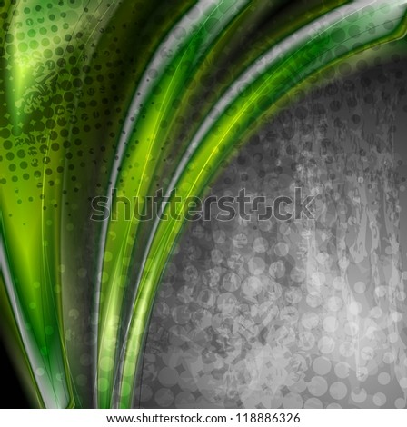 Abstract green grunge background. Vector design eps 10 - stock vector