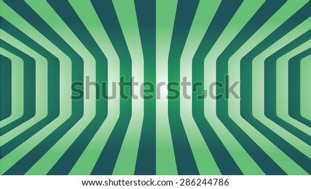 Abstract Green line curve room art background  - stock vector