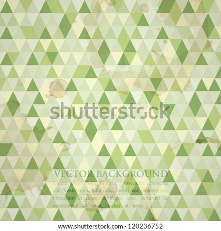 abstract green mosaic background - stock vector