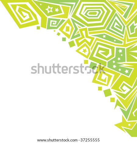 abstract green ornaments background vector (series) - stock vector