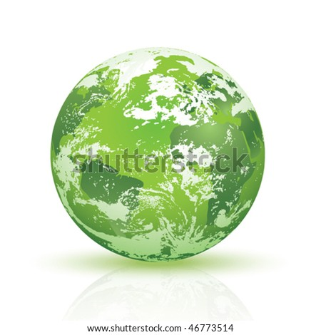 abstract green planet Earth, reference photos from NASA