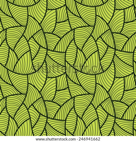 Abstract green seamless pattern.  - stock vector