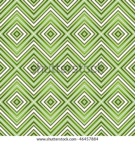Abstract green seamless zigzag pattern (vector EPS 10) - stock vector
