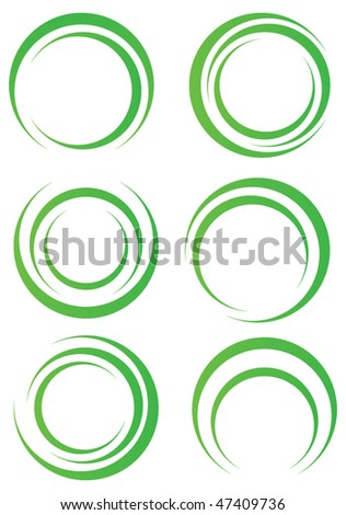 Abstract green shapes - stock vector