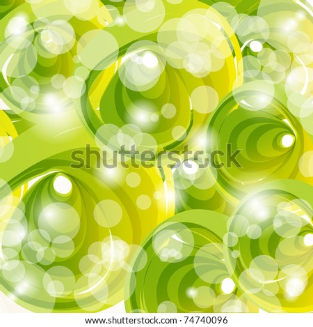 Abstract green spring background - stock vector