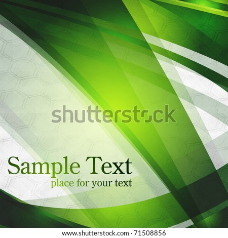 Abstract green stripes on grey background. Eps 10 - stock vector