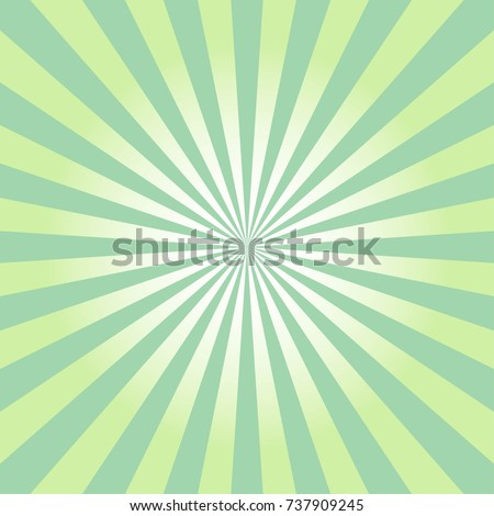 Abstract Green Sun Rays Icon Comic Stock Vector 737909245 - Shutterstock