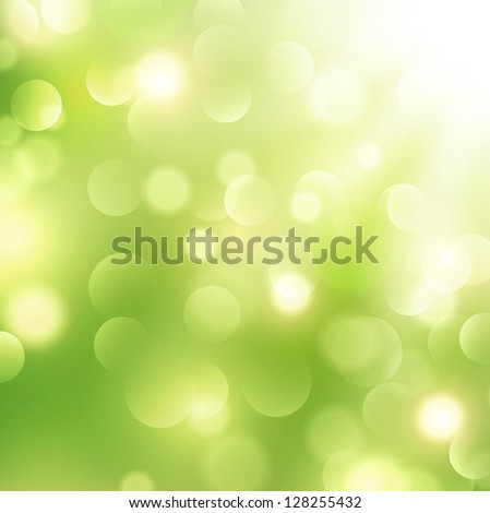 Abstract Green Sunny Good Mood Spring Background - stock vector