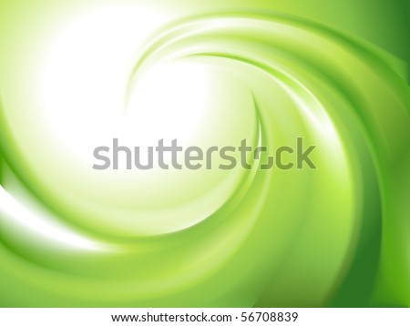 Abstract green swirl - stock vector